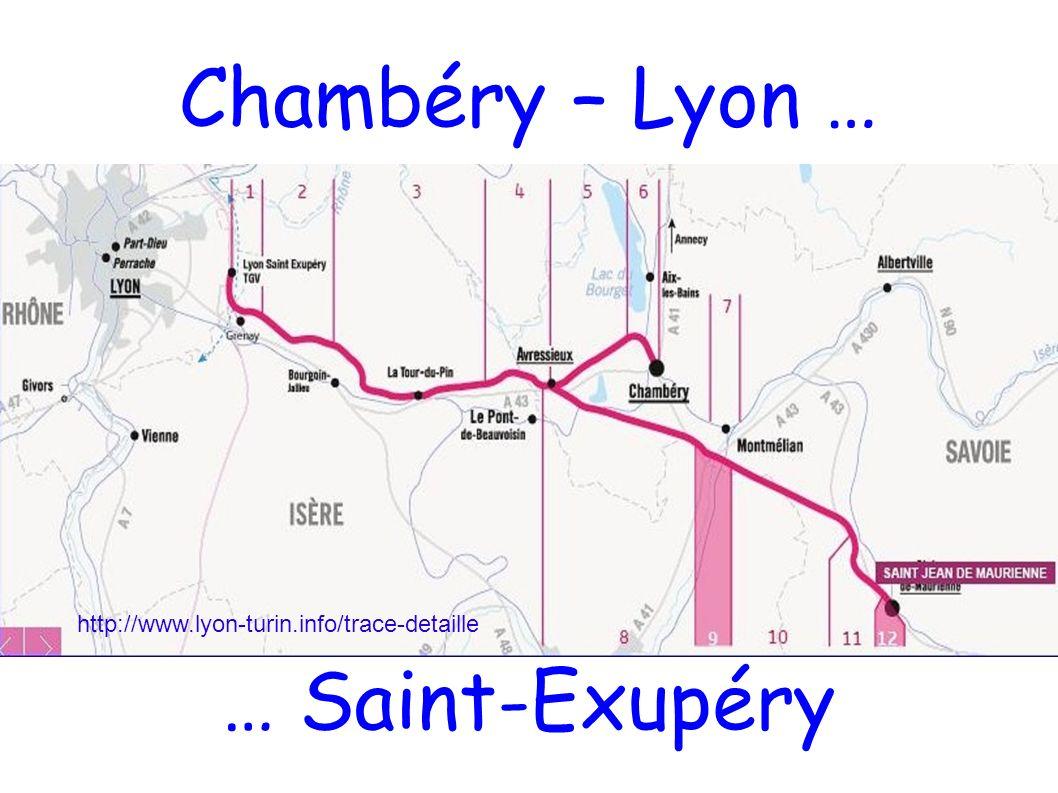 Chambéry – Lyon … … Saint-Exupéry http://www.lyon-turin.info/trace-detaille