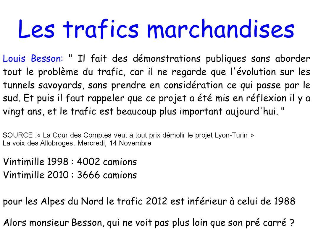 Les trafics marchandises Louis Besson: