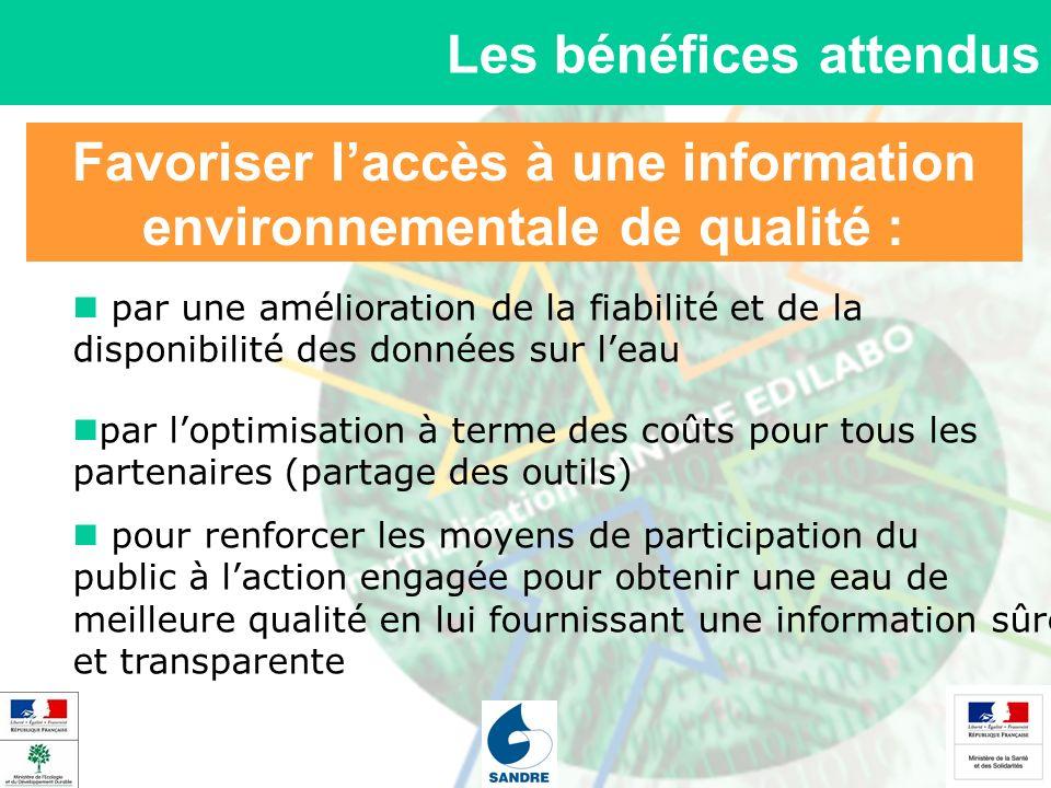 Favoriser laccès à une information environnementale de qualité : Les bénéfices attendus par une amélioration de la fiabilité et de la disponibilité de