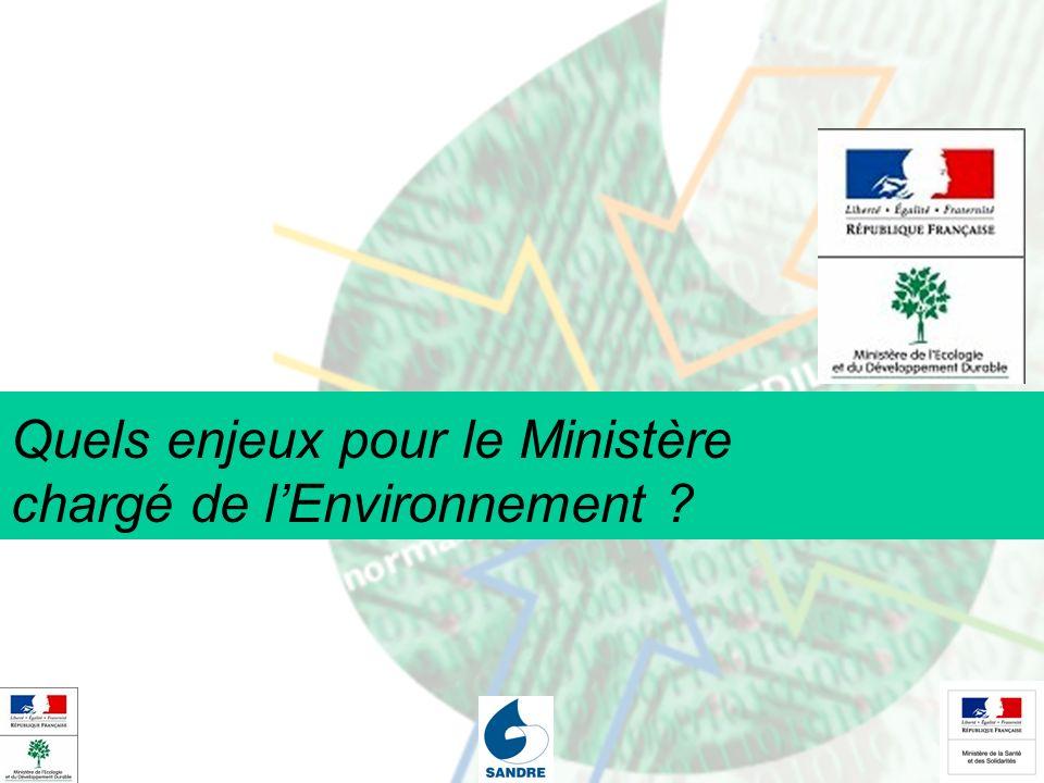 Quels enjeux pour le Ministère chargé de lEnvironnement ?