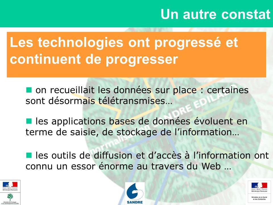 Les technologies ont progressé et continuent de progresser Un autre constat on recueillait les données sur place : certaines sont désormais télétransm