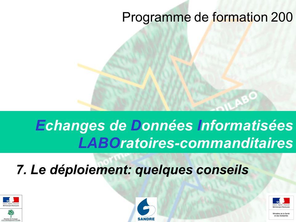 Echanges de Données Informatisées LABOratoires-commanditaires 7.
