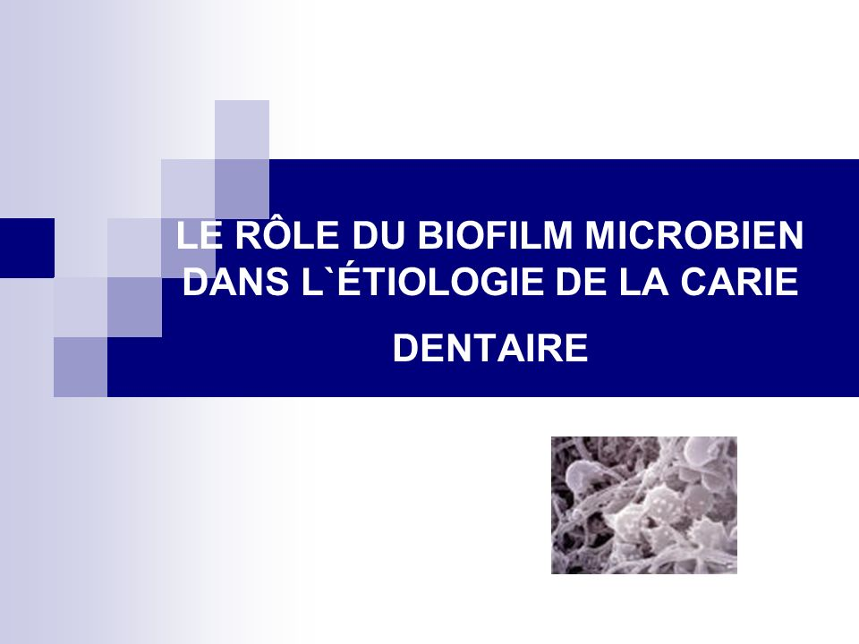 Mécanismes d`action du biofilm bactérien dans l`apparition des caries dentaires.