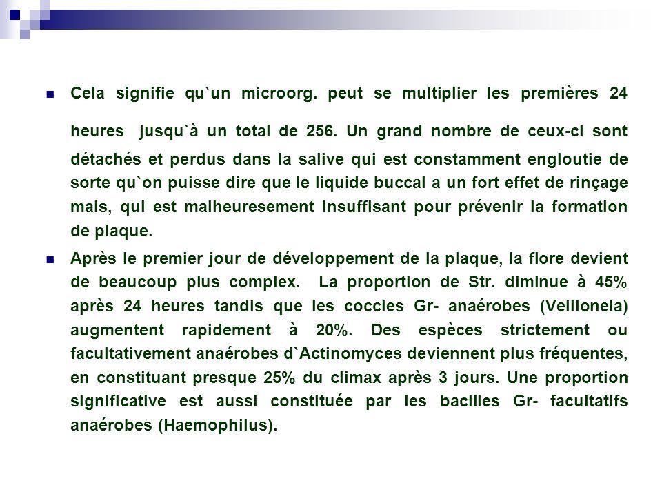 La capacité pathogène du biofilm bactérien 1.– la concentration d`une nombre immense de microorg.
