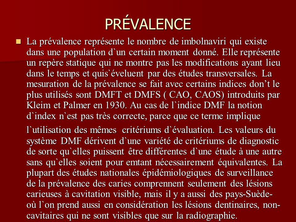 PRÉVALENCE La prévalence représente le nombre de imbolnaviri qui existe dans une population d`un certain moment donné. Elle représente un repère stati