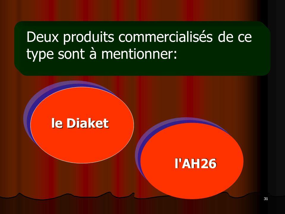 31 Deux produits commercialisés de ce type sont à mentionner: le Diaket l'AH26