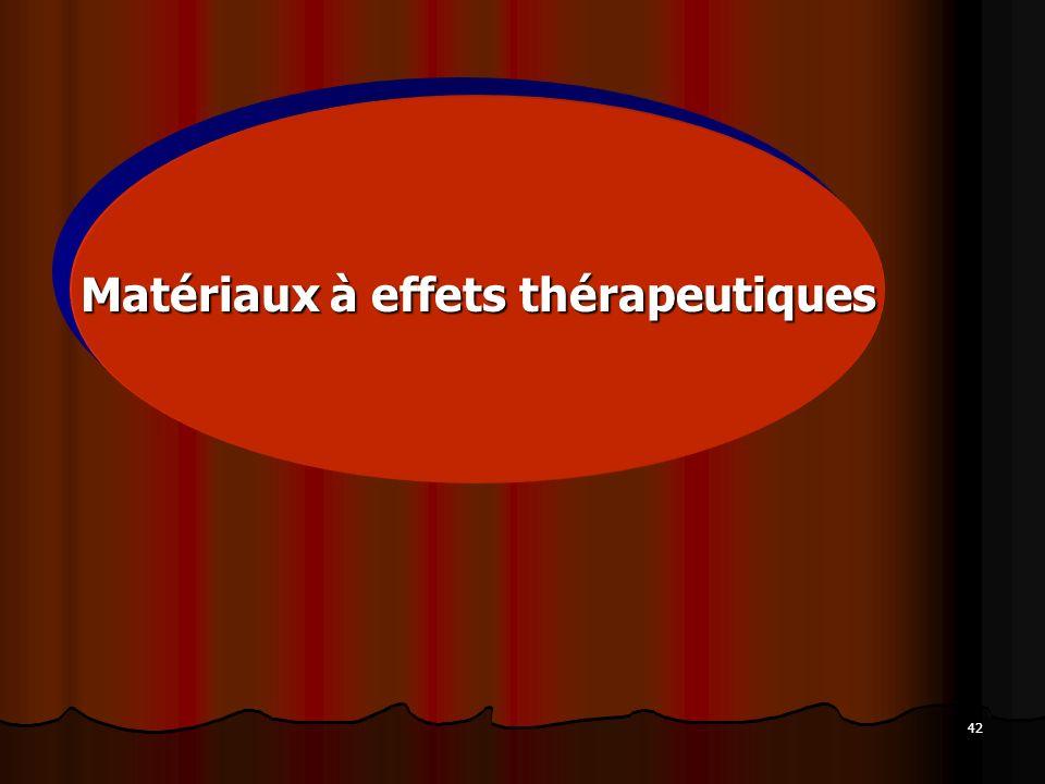42 Matériaux à effets thérapeutiques