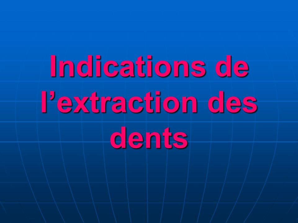 Indications de lextraction des dents