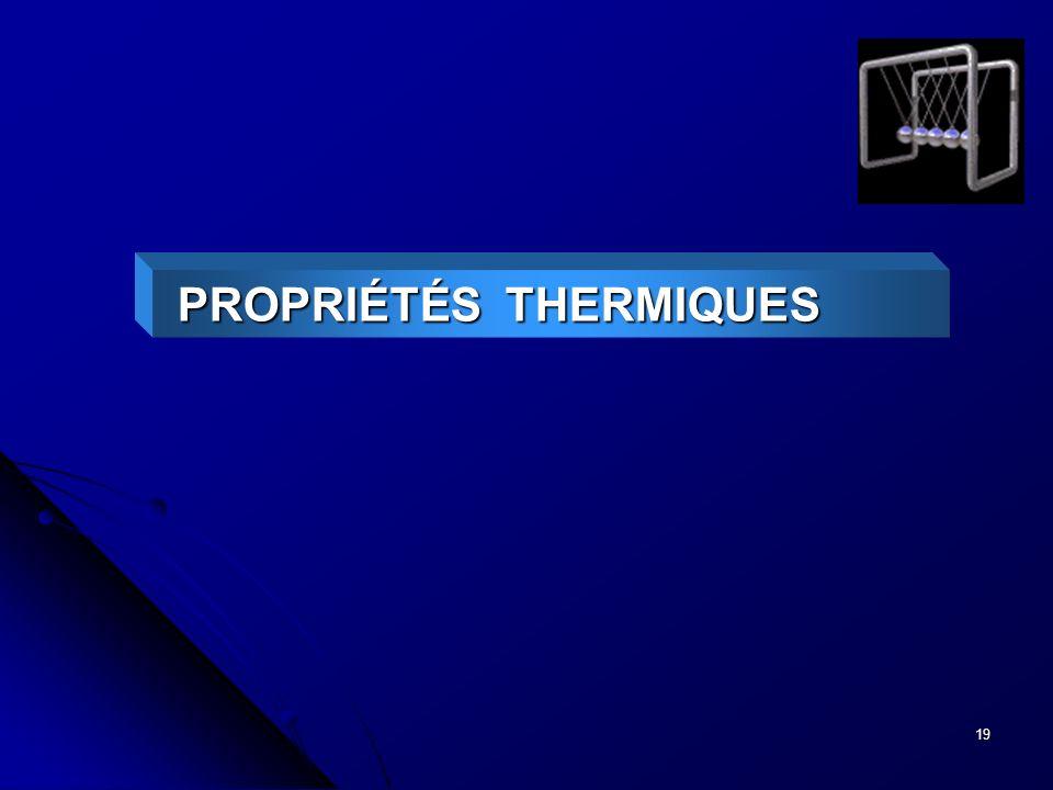 19 PROPRIÉTÉS THERMIQUES