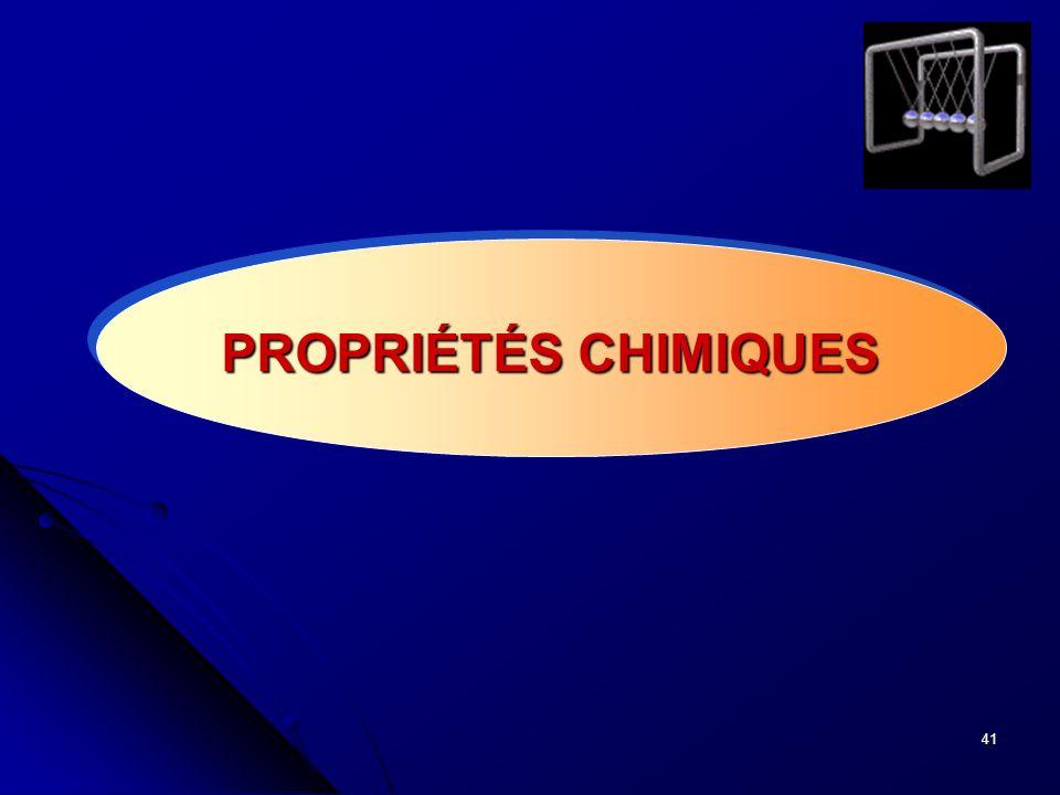 41 PROPRIÉTÉS CHIMIQUES
