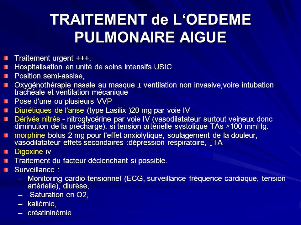 TRAITEMENT de LOEDEME PULMONAIRE AIGUE Traitement urgent +++.
