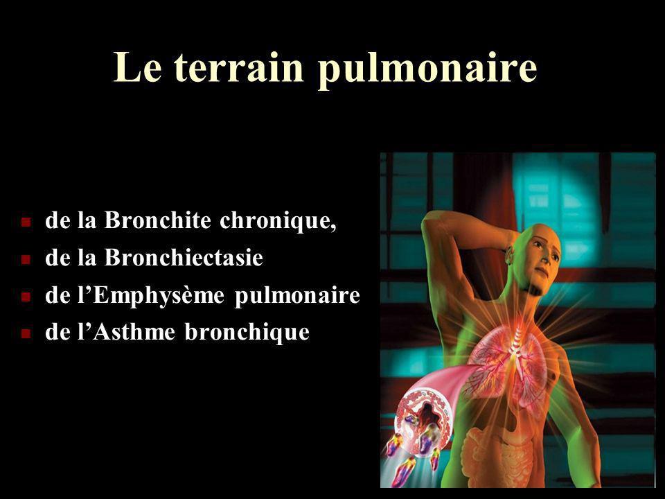 Le terrain pulmonaire de la Bronchite chronique, de la Bronchiectasie de lEmphysème pulmonaire de lAsthme bronchique