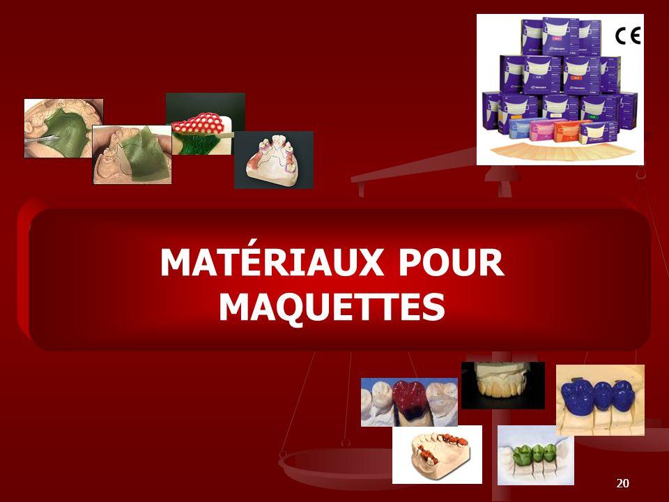 20 MATÉRIAUX POUR MAQUETTES