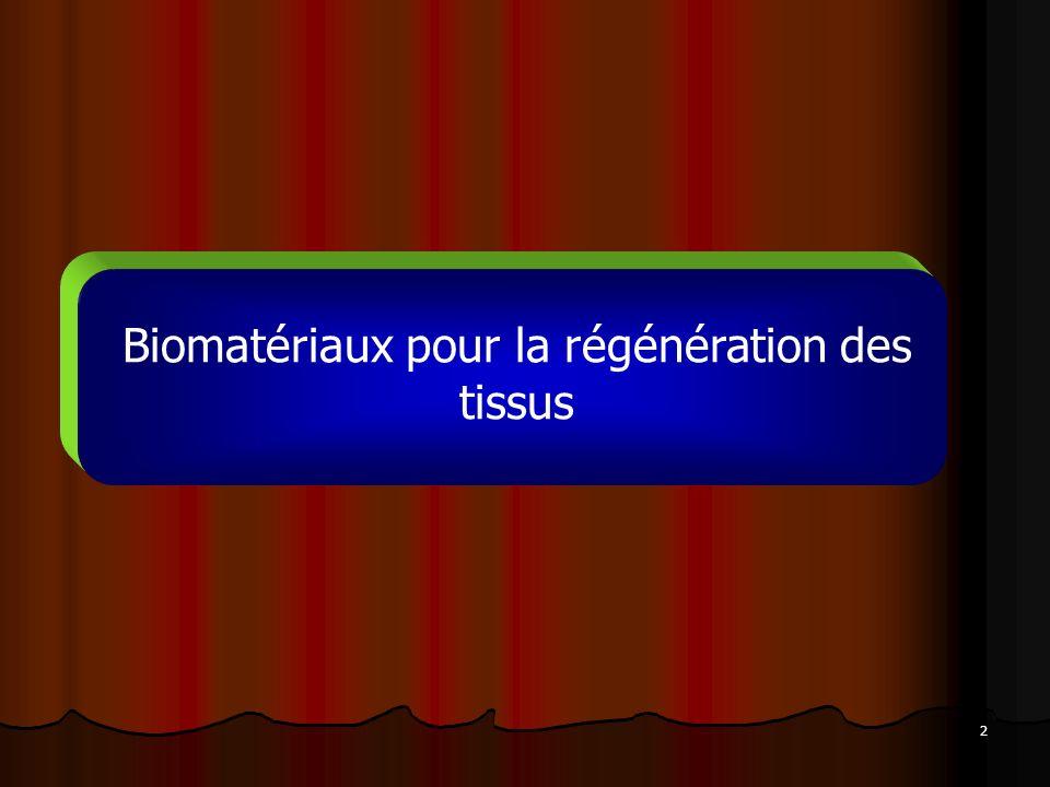 2 Biomatériaux pour la régénération des tissus