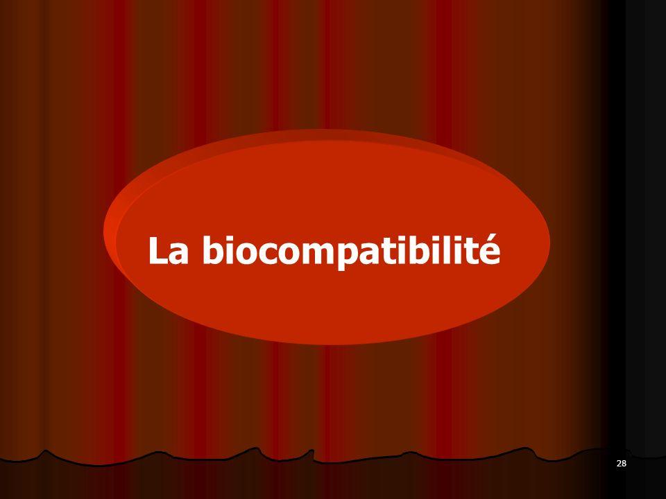28 La biocompatibilité