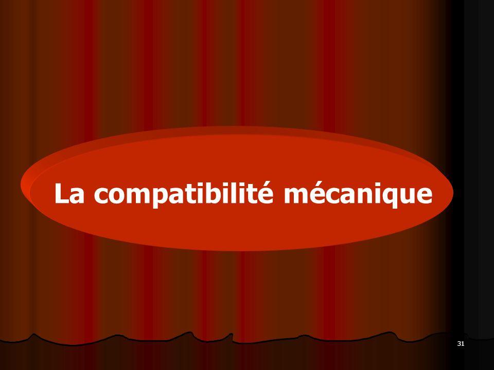 31 La compatibilité mécanique