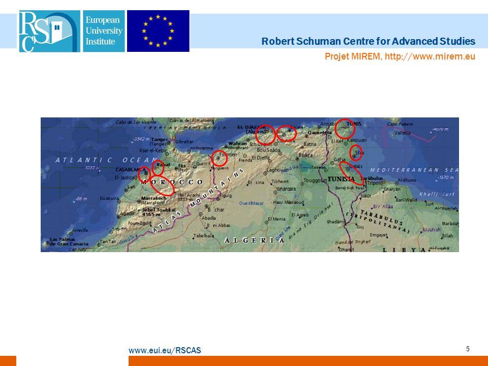 Robert Schuman Centre for Advanced Studies www.eui.eu/RSCAS Projet MIREM, http://www.mirem.eu 5