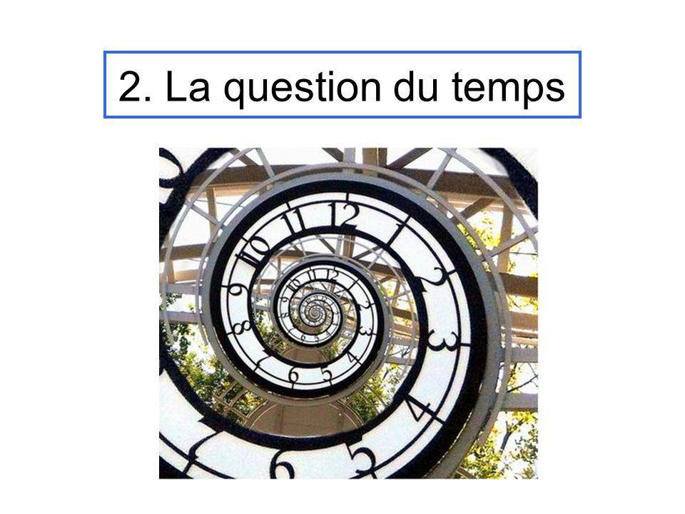 2. La question du temps