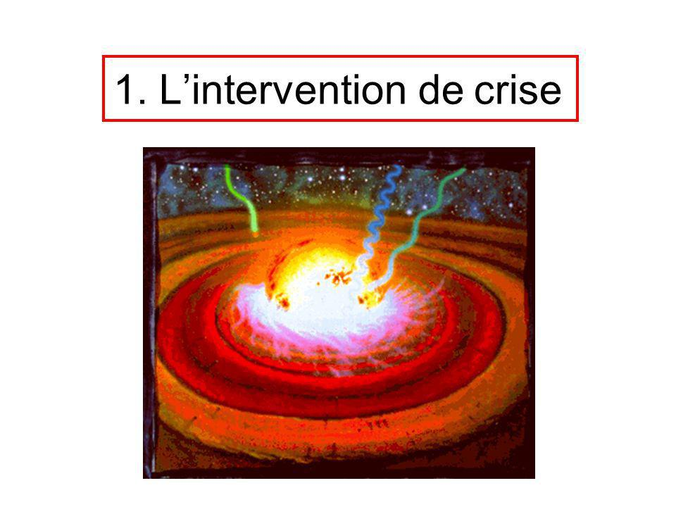 1. Lintervention de crise