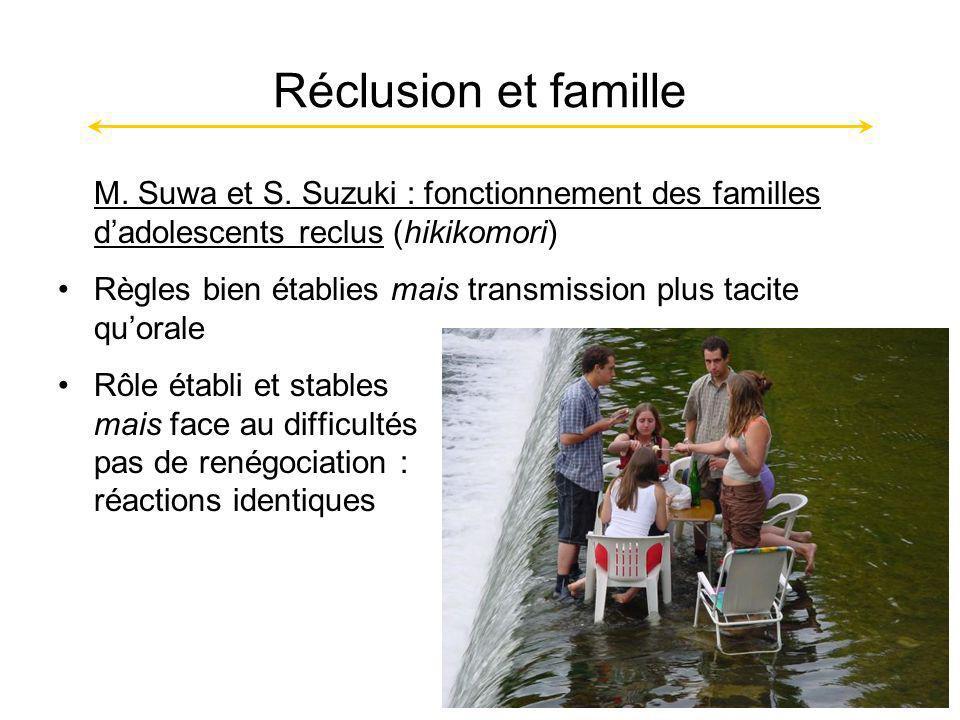 Réclusion et famille M.Suwa et S.