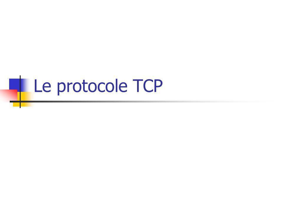Le protocole TCP