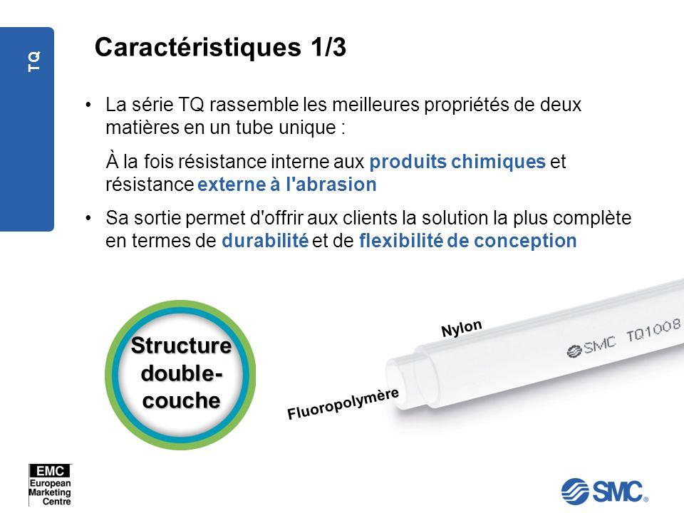 TQ La série TQ rassemble les meilleures propriétés de deux matières en un tube unique : À la fois résistance interne aux produits chimiques et résista