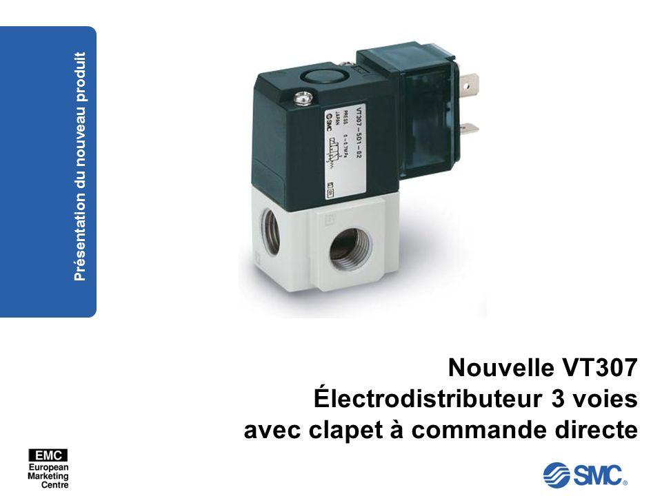 Nouvelle VT307 Électrodistributeur 3 voies avec clapet à commande directe Présentation du nouveau produit