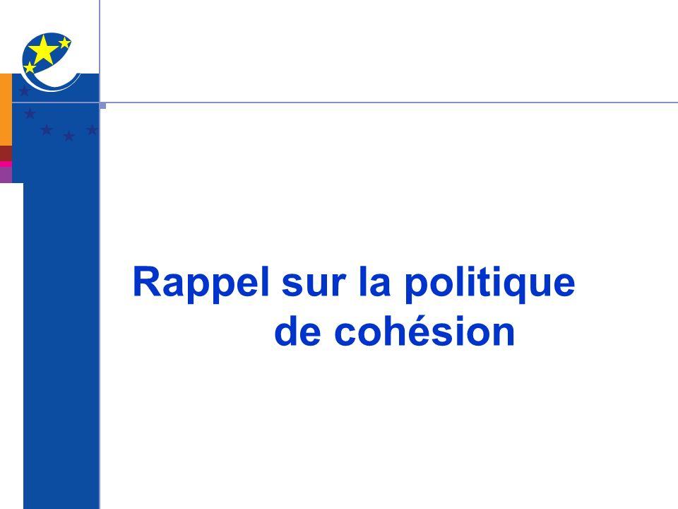 Rappel sur la politique de cohésion