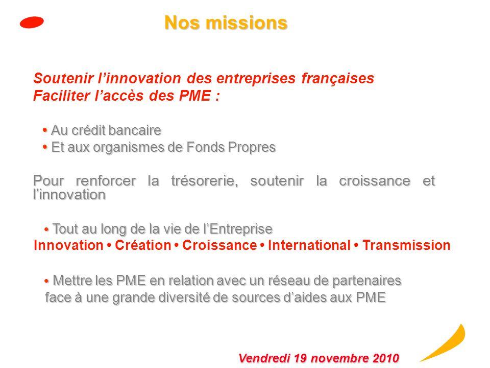 100 % 60 % 40 % epic CDC Régions Banques 53 % 47 % Organigramme juridique simplifié Vendredi 19 novembre 2010