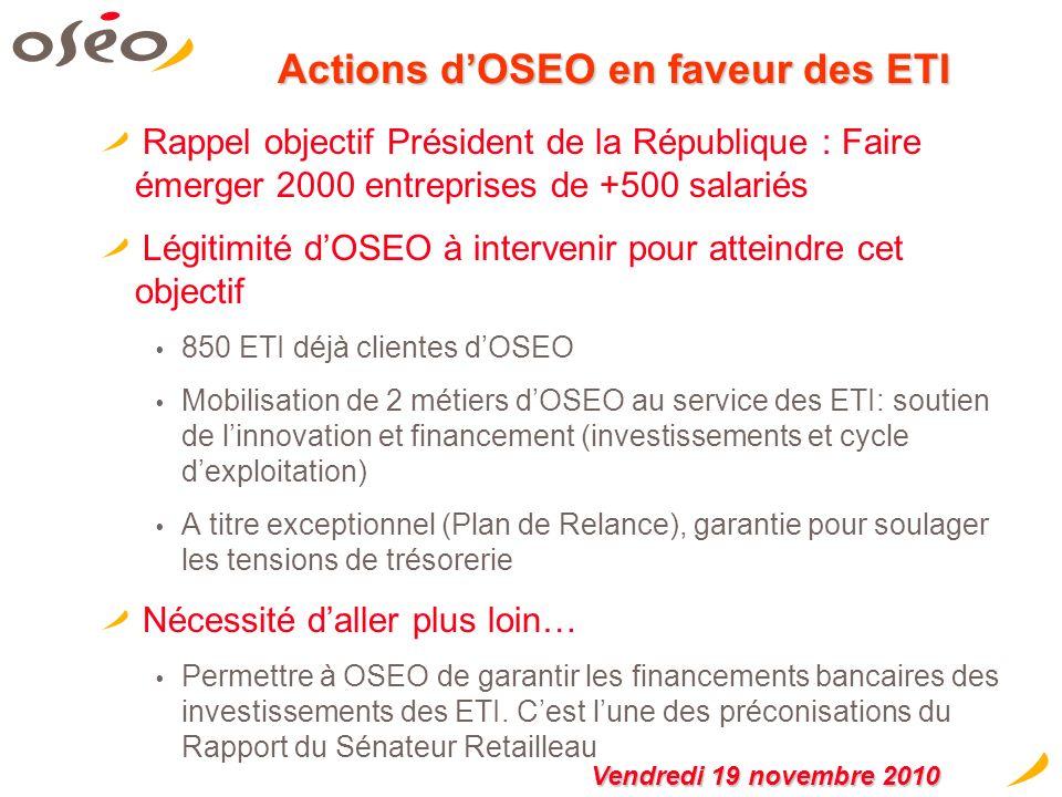 États Généraux de lIndustrie OSEO 2/2 Dispositif daide à la réindustrialisation (200M) Dispositif sous forme davances remboursables quOSEO mettra en p