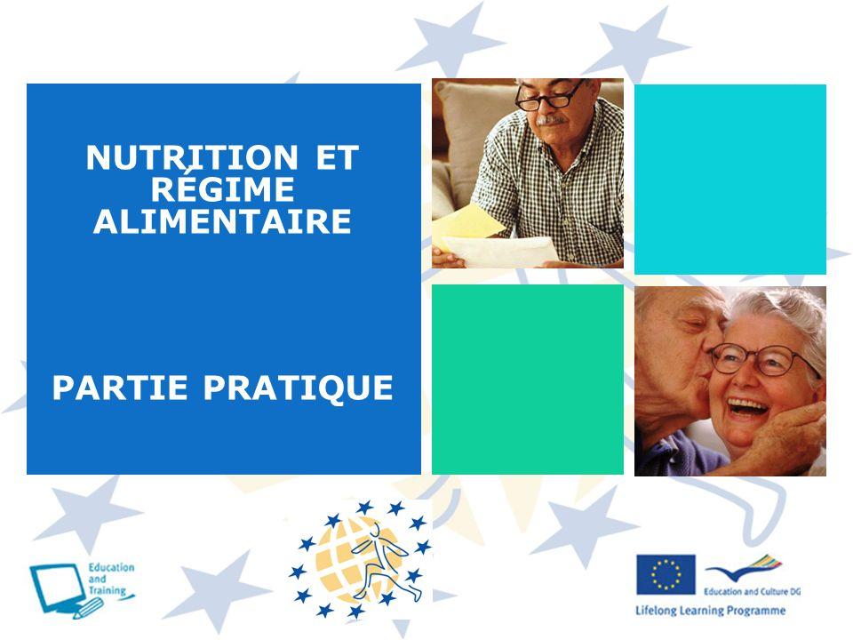 NUTRITION ET RÉGIME ALIMENTAIRE PARTIE PRATIQUE