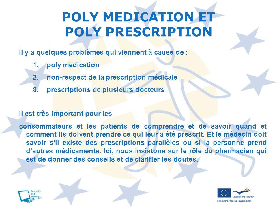 Il est très important pour les consommateurs et les patients de comprendre et de savoir quand et comment ils doivent prendre ce qui leur a été prescri