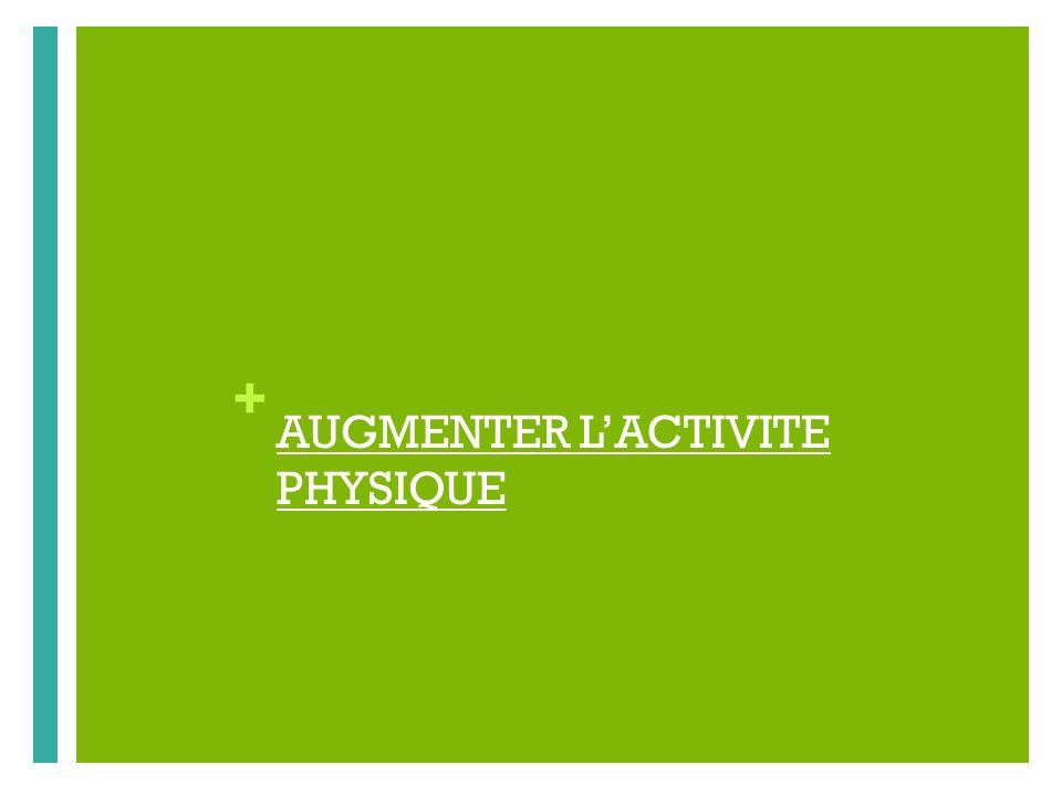 + AUGMENTER LACTIVITE PHYSIQUE