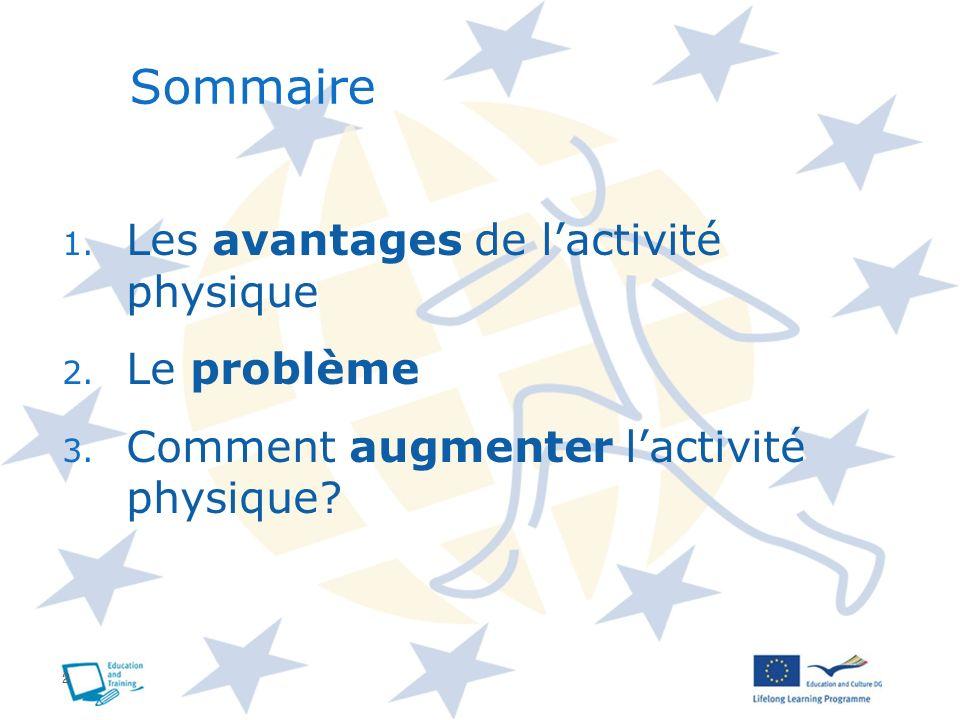 + LES AVANTAGES DE LACTIVITE PHYSIQUE