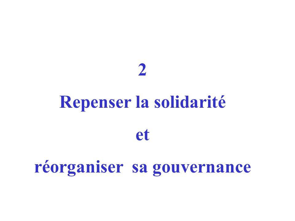 2 Repenser la solidarité et réorganiser sa gouvernance