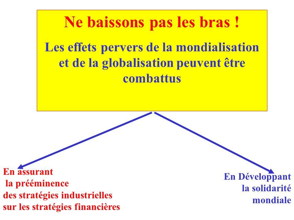 Emplois industriels en France: comment situer le phénomène des « délocalisations »? 89-93- 480 000/an 00-03- 130 000/an Emplois industriels -13 500/ a