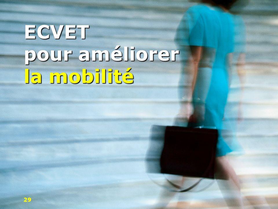 ECVET pour améliorer la mobilité 29