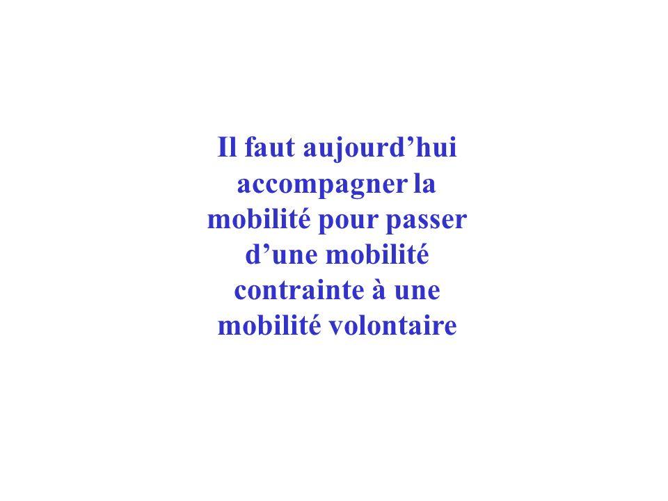 Il faut aujourdhui accompagner la mobilité pour passer dune mobilité contrainte à une mobilité volontaire
