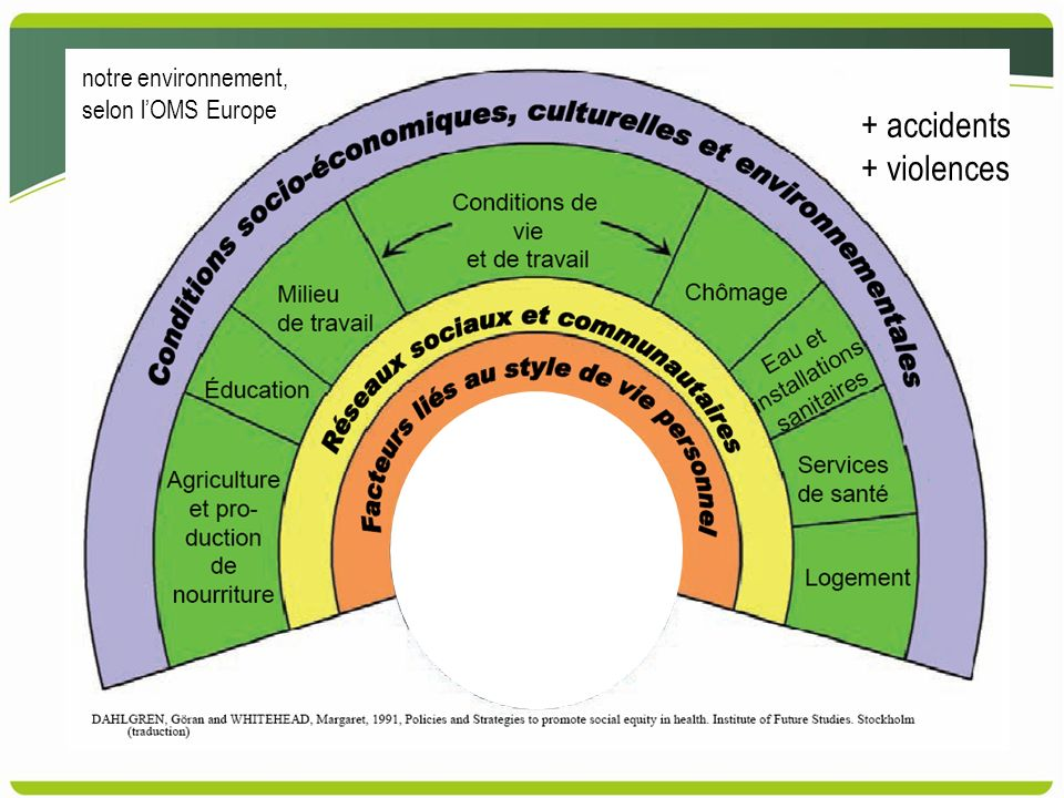 notre environnement, selon lOMS Europe + accidents + violences