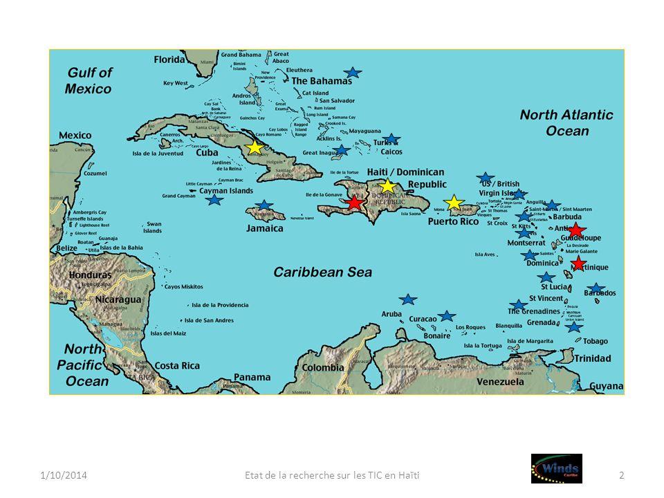 1/10/2014Etat de la recherche sur les TIC en Haïti2