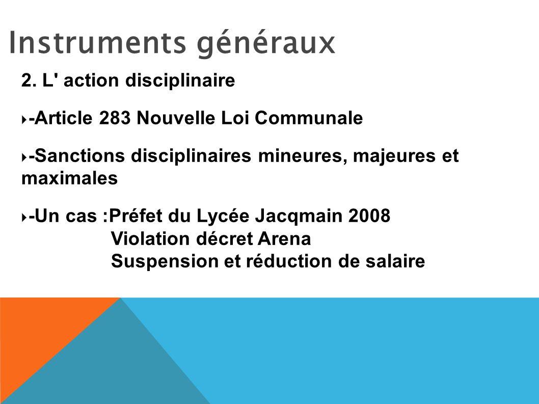 Instruments généraux 2.