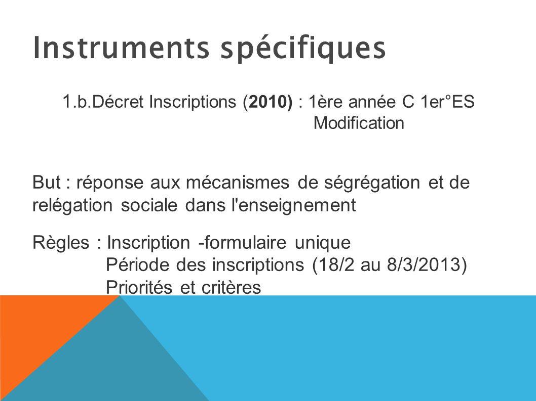 Instruments spécifiques 1.