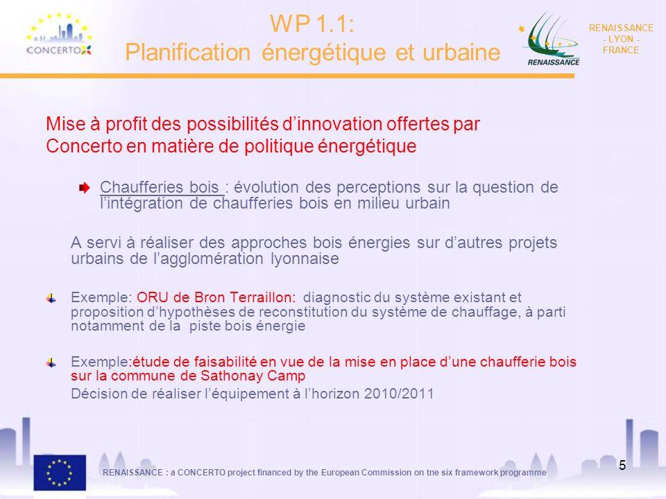 RENAISSANCE : a CONCERTO project financed by the European Commission on tne six framework programme RENAISSANCE - LYON - FRANCE 5 Mise à profit des po