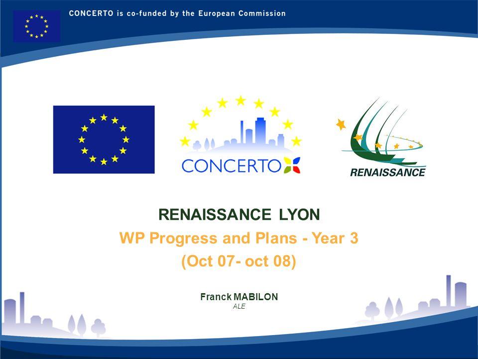 RENAISSANCE : a CONCERTO project financed by the European Commission on tne six framework programme RENAISSANCE - LYON - FRANCE 2 WP 5: Formations ALE: Franck Mabilon