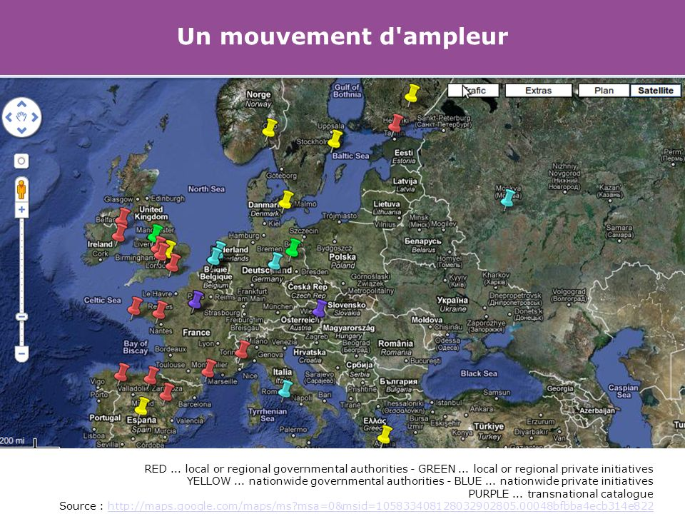 Un mouvement d ampleur RED... local or regional governmental authorities - GREEN...