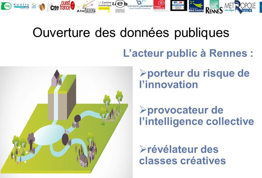 Ouverture des données publiques porteur du risque de linnovation provocateur de lintelligence collective révélateur des classes créatives Lacteur public à Rennes :