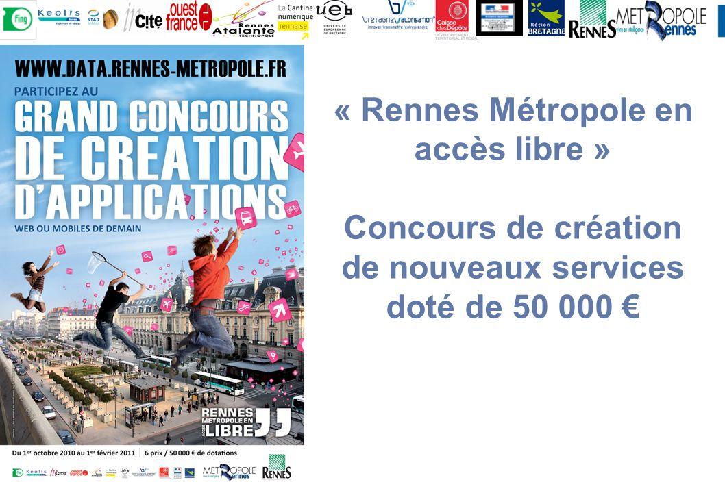 « Rennes Métropole en accès libre » Concours de création de nouveaux services doté de 50 000