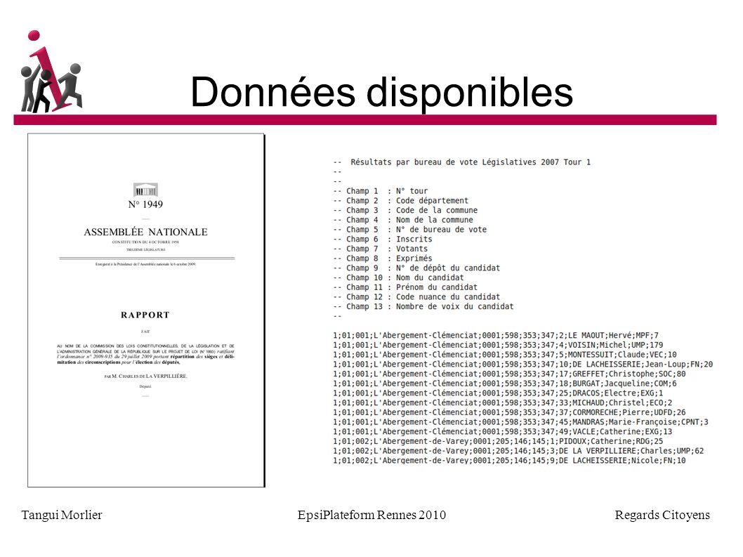 Regards Citoyens Tangui MorlierEpsiPlateform Rennes 2010 Géolocalisation pour 40 villes