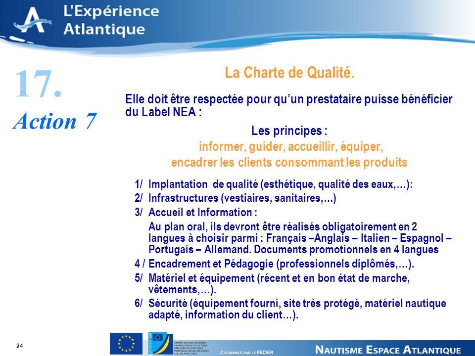 24 17. Action 7 La Charte de Qualité.