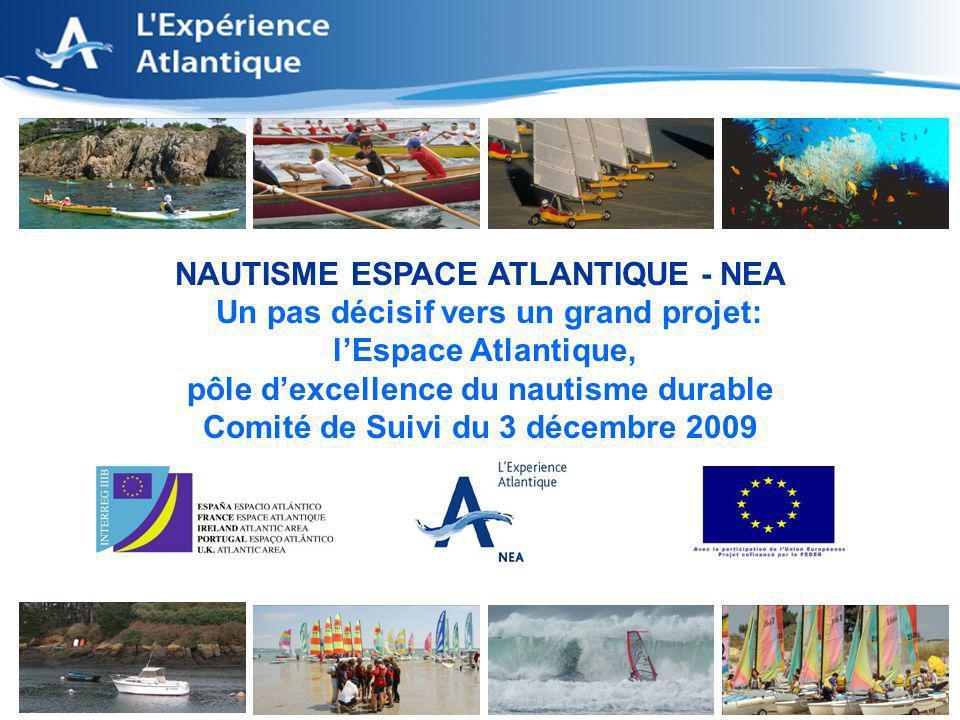 1 NAUTISME ESPACE ATLANTIQUE - NEA Un pas décisif vers un grand projet: lEspace Atlantique, pôle dexcellence du nautisme durable Comité de Suivi du 3